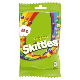 Skittles Crazy Sours Cukierki do żucia 95 g