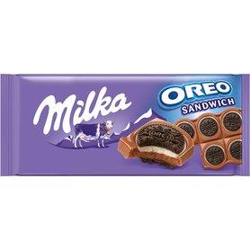 Milka Oreo Ciastka kakaowe i nadzienie mleczne o smaku waniliowym na czekoladzie mlecznej 92 g