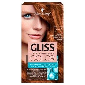 Schwarzkopf Gliss Color Farba do włosów ciemny miedziany blond 7-7