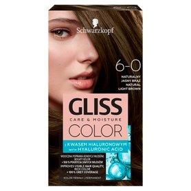 Schwarzkopf Gliss Color Farba do włosów naturalny jasny brąz 6-0