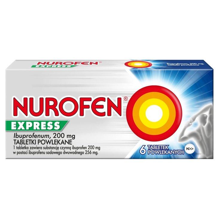 Nurofen Express Tabletki powlekane 6 sztuk (1)