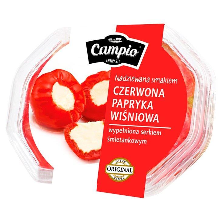 Campio Antipasti Czerwona papryka wiśniowa wypełniona serkiem śmietankowym 250 g (2)