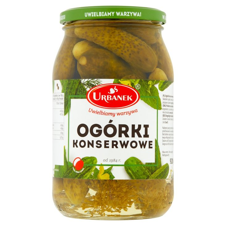 Urbanek Ogórki konserwowe 920 g (2)