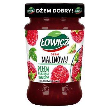 Łowicz Dżem malinowy o obniżonej zawartości cukrów 280 g (1)