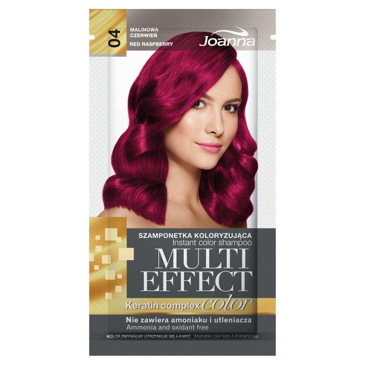 Joanna Multi Effect color Szamponetka koloryzująca malinowa czerwień 04 35 g (1)