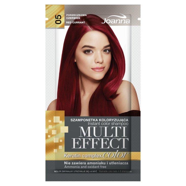 Joanna Multi Effect color Szamponetka koloryzująca porzeczkowa czerwień 05 35 g (1)
