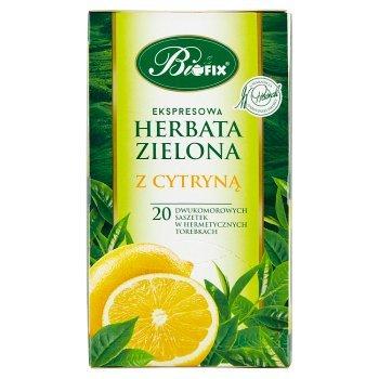 Bifix Herbata zielona ekspresowa z cytryną 40 g (20 x 2 g) (2)
