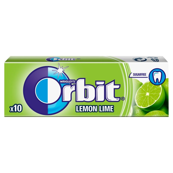 Orbit Lemon Lime Guma do żucia bez cukru 14 g (10 sztuk) (1)