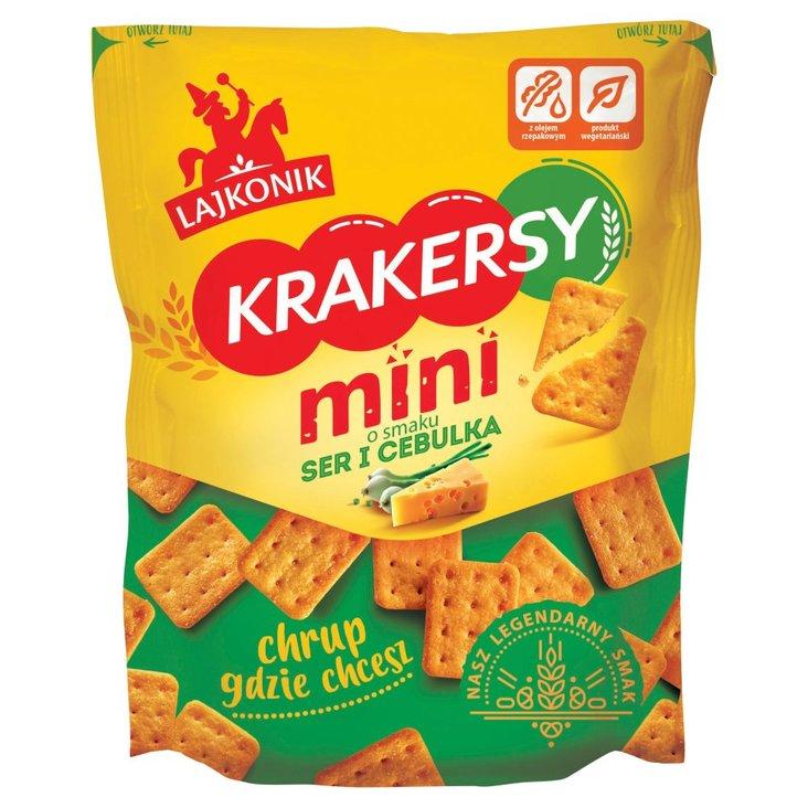 Lajkonik Krakersy mini o smaku ser i cebulka 100 g (1)