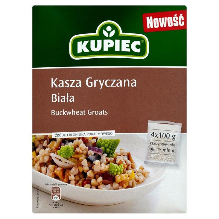 Kupiec Kasza gryczana biała 400 g (4 torebki) (2)