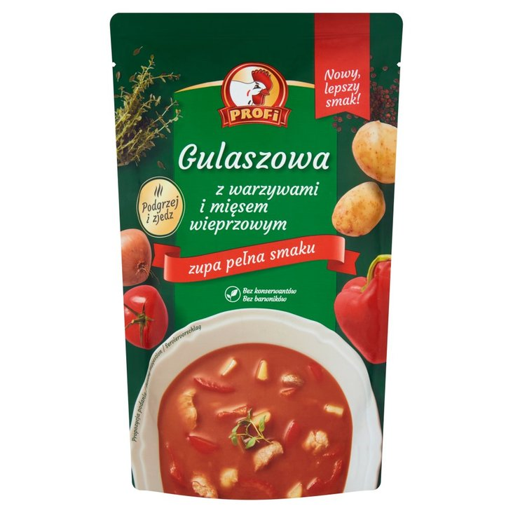 Profi Gulaszowa z warzywami i mięsem wieprzowym 450 g (1)