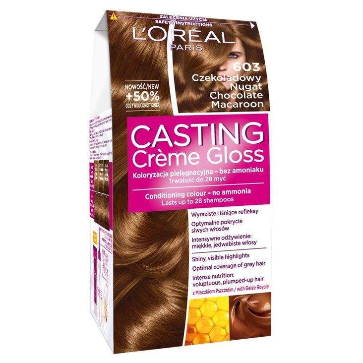 L'Oréal Paris Casting Crème Gloss Farba do włosów 603 Czekoladowy nugat (1)