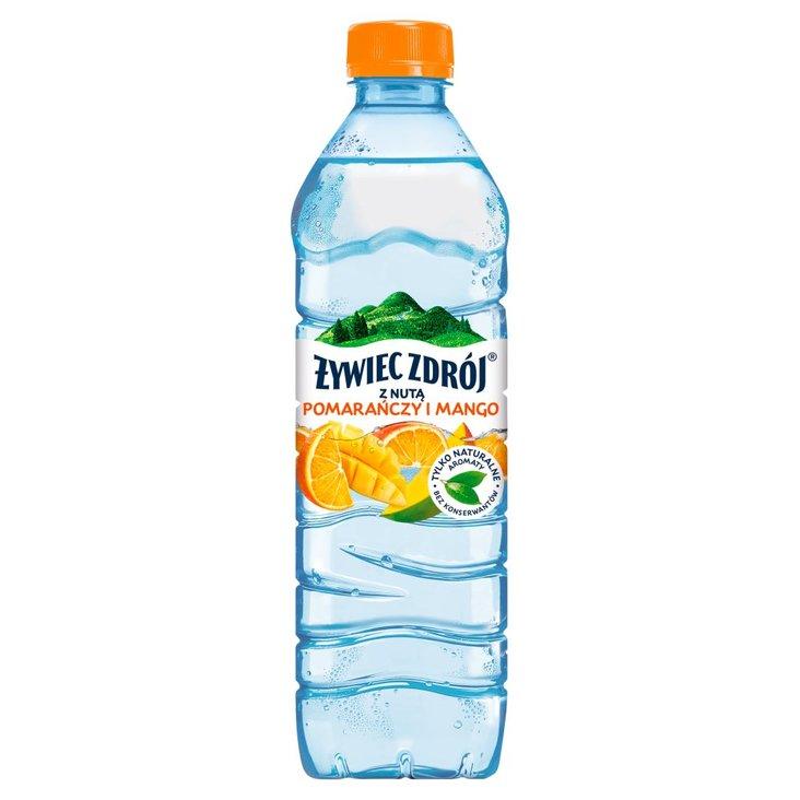 Żywiec Zdrój Napój niegazowany z nutą pomarańczy i mango 500 ml (1)