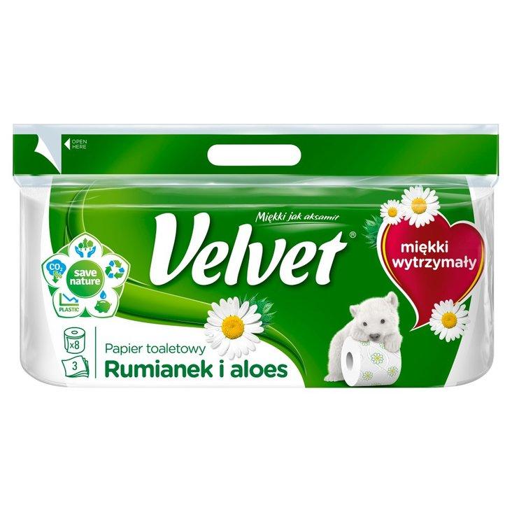 Velvet Rumianek i Aloes Papier toaletowy 8 rolek (2)