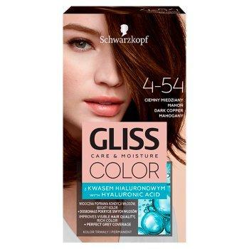 Schwarzkopf Gliss Color Farba do włosów ciemny miedziany mahoń 4-54 (1)