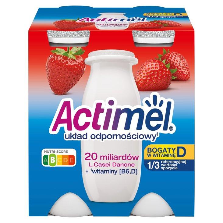 Actimel Mleko fermentowane o smaku truskawkowym 400 g (4 x 100 g) (1)