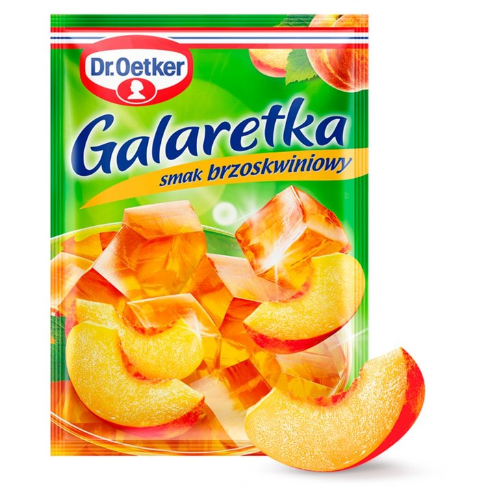 Dr. Oetker Galaretka o smaku brzoskwiniowym 77 g (1)