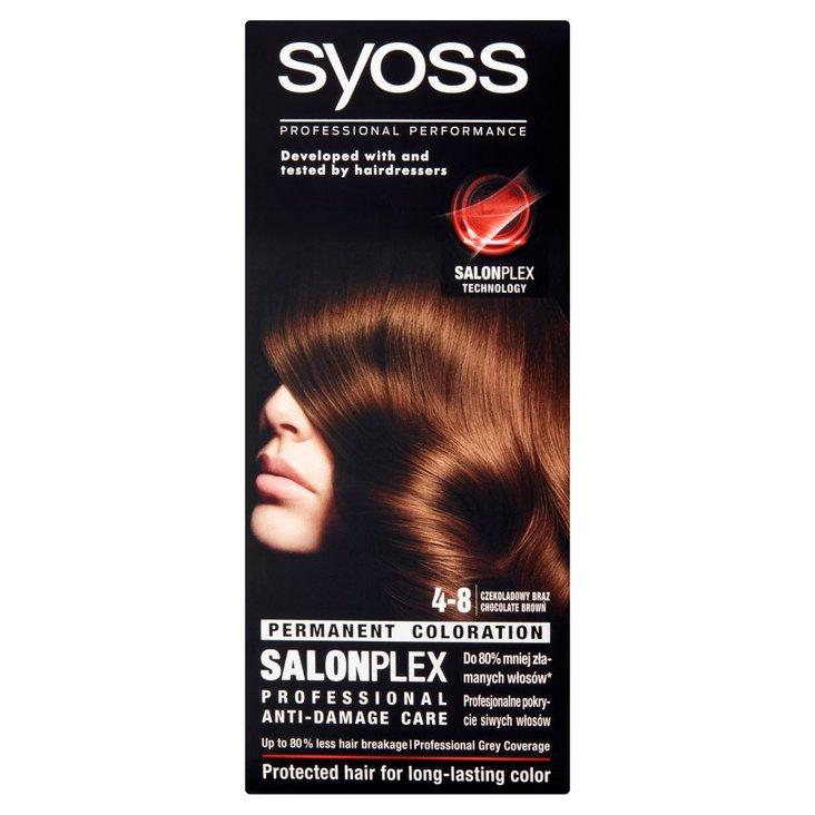 Syoss SalonPlex Farba do włosów czekoladowy brąz 4-8 (2)