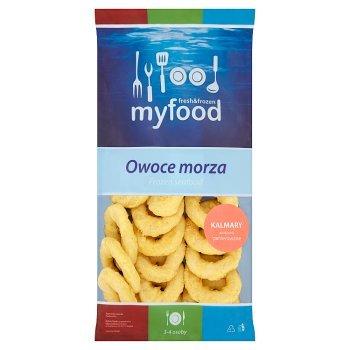 MyFood Owoce morza Kalmary pierścienie panierowane 500 g (1)