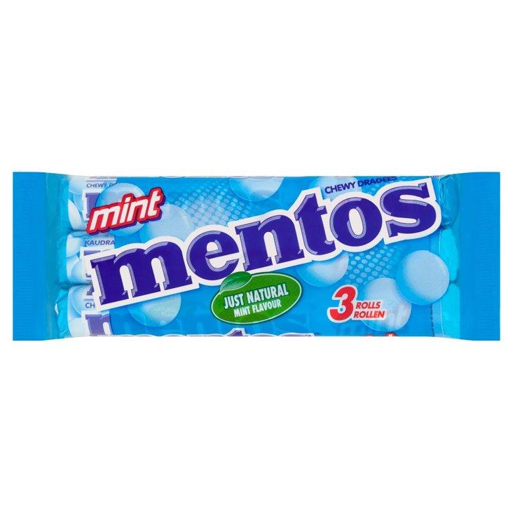 Mentos Mint Cukierki do żucia 3 x 38 g (1)