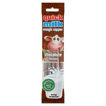 Quick Milk Magic Sipper Słomki smakowe do mleka o smaku czekoladowym 30 g (5 x 6 g) (1)