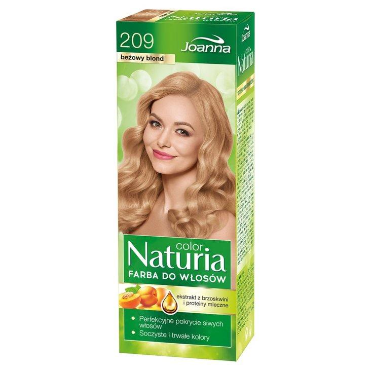 Joanna Naturia color Farba do włosów beżowy blond 209 (1)