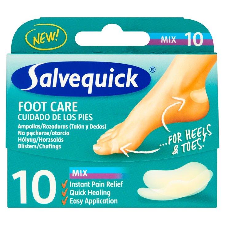 Salvequick Foot Care Mix Plastry na pęcherze i otarcia 10 sztuk (1)