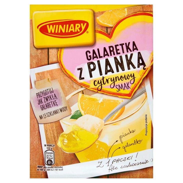 Winiary Galaretka z pianką cytrynowy smak 72 g (1)
