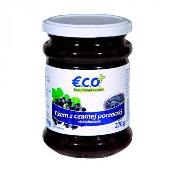 €.C.O.+ dżem z czarnej porzeczki  o obniżonej zawartości cukru 270g (1)