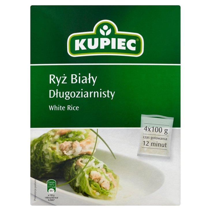 Kupiec Ryż biały długoziarnisty 400 g (4 torebki) (2)