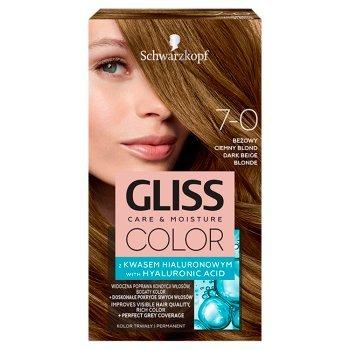 Schwarzkopf Gliss Color Farba do włosów beżowy ciemny blond 7-0 (1)