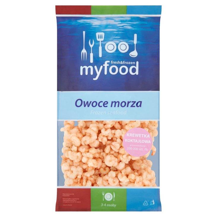 MyFood Owoce morza Krewetka koktajlowa gotowana obrana 400 g (1)