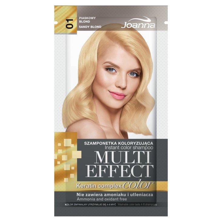 Joanna Multi Effect color Szamponetka koloryzująca piaskowy blond 01 35 g (1)