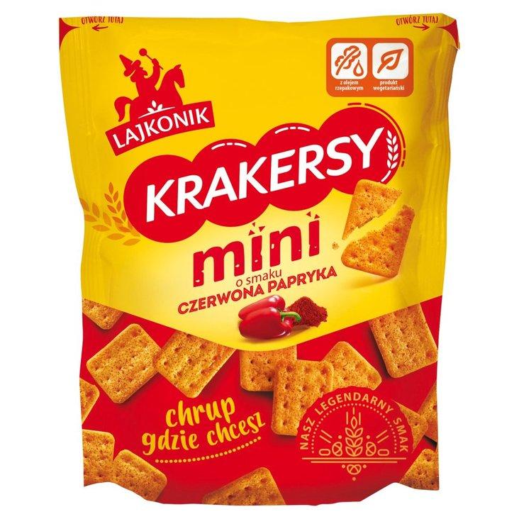 Lajkonik Krakersy mini o smaku czerwona papryka 100 g (1)