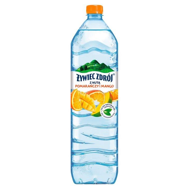 Żywiec Zdrój Napój niegazowany z nutą pomarańczy i mango 1,5 l (1)