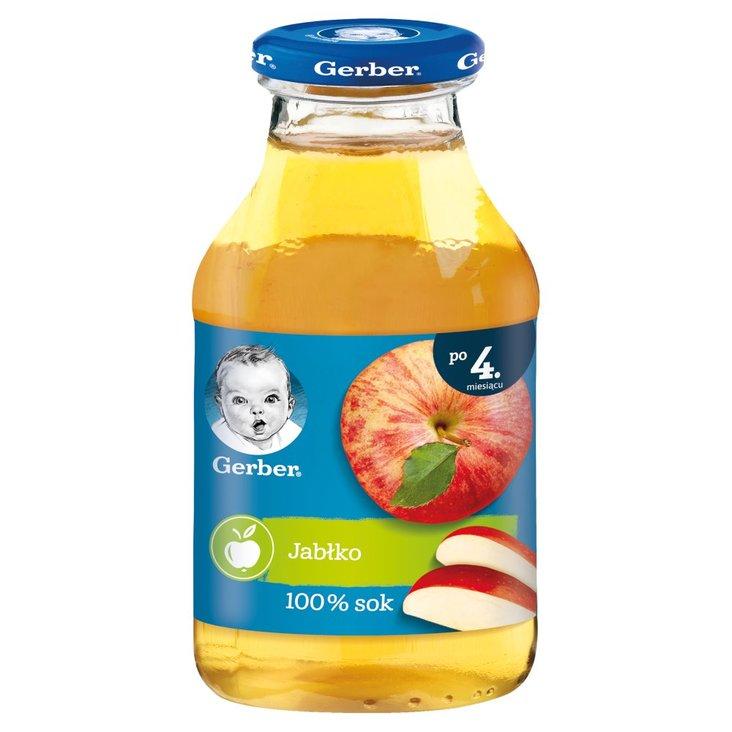 Gerber Sok 100% jabłko dla niemowląt po 4. miesiącu 200 ml (1)