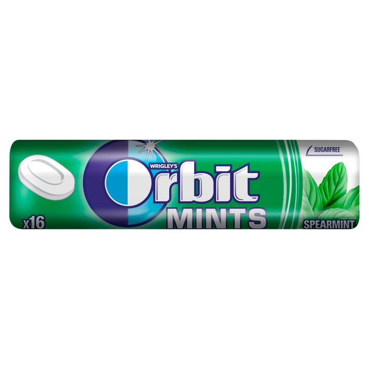 Orbit Spearmint Mints Cukierki bez cukru 28 g (16 cukierków) (1)