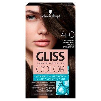 Schwarzkopf Gliss Color Farba do włosów naturalny ciemny brąz 4-0 (1)
