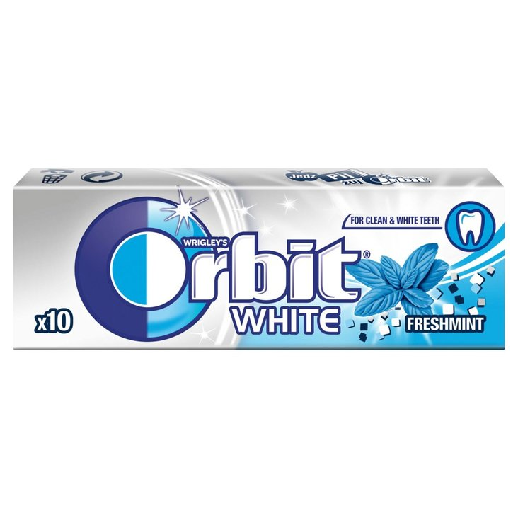Orbit White Freshmint Guma do żucia bez cukru 14 g (10 drażetek) (1)