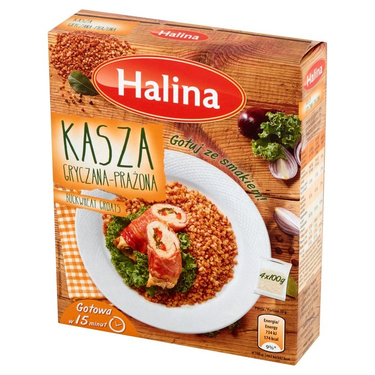 Halina Kasza gryczana prażona 400 g (4 torebki) (1)