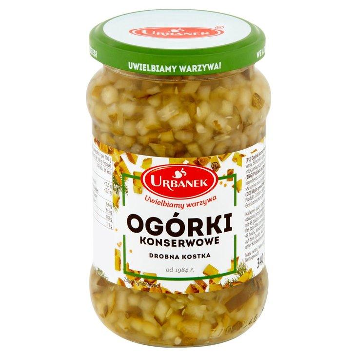 Urbanek Ogórki konserwowe drobna kostka 340 g (1)