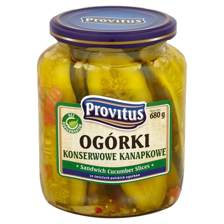 Provitus Ogórki konserwowe kanapkowe 680 g (1)