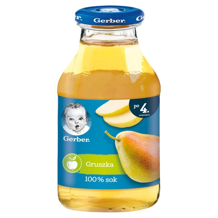 Gerber Sok 100% gruszka dla niemowląt po 4. miesiącu 200 ml (1)