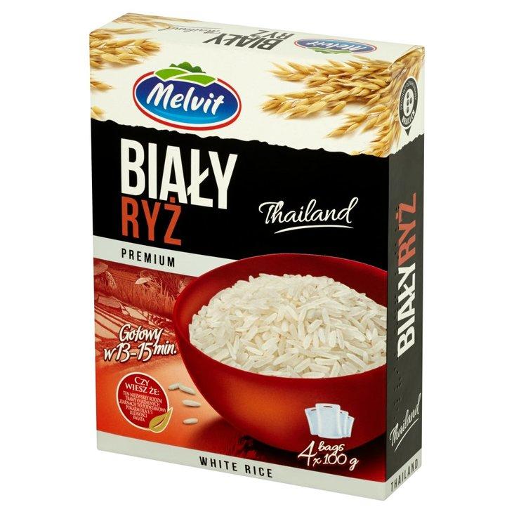 Melvit Premium Ryż biały 400 g (4 torebki) (1)