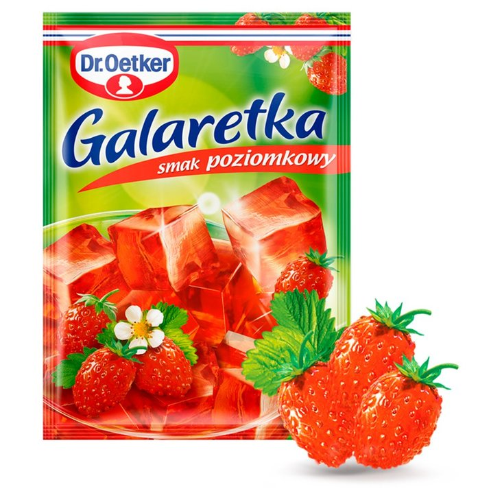 Dr. Oetker Galaretka o smaku poziomkowym 77 g (1)