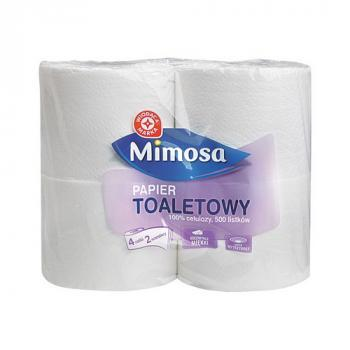 WM Papier toletowy 500 listków 2 warstwy 100% celulozy niezwykle miękki 4szt (1)