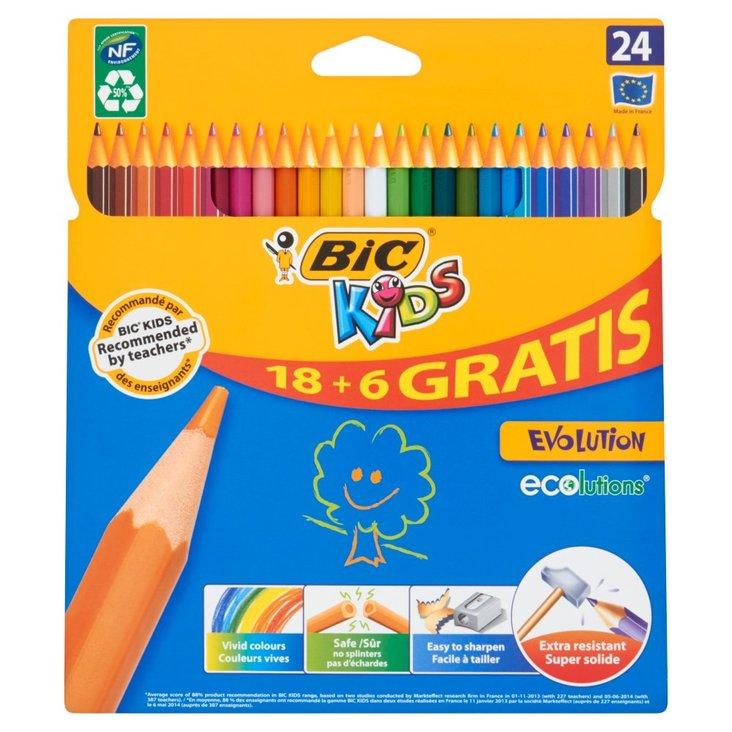 Bic Kids Evolution Kredki bezdrzewne z żywicy syntetycznej 24 kolory (1)
