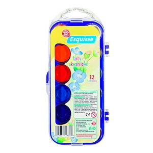 WM Farby akwarelowe 12 kolorów 1 szt (1)