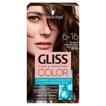 Schwarzkopf Gliss Color Farba do włosów chłodny perłowy brąz 6-16 (1)