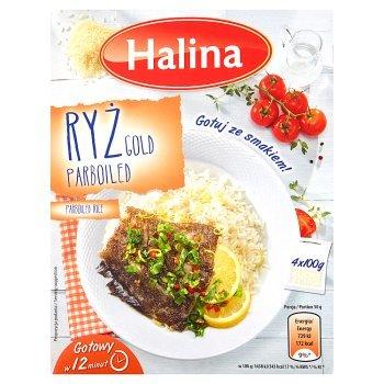 Halina Ryż Gold Parboiled 400 g (4 x 100 g) (2)